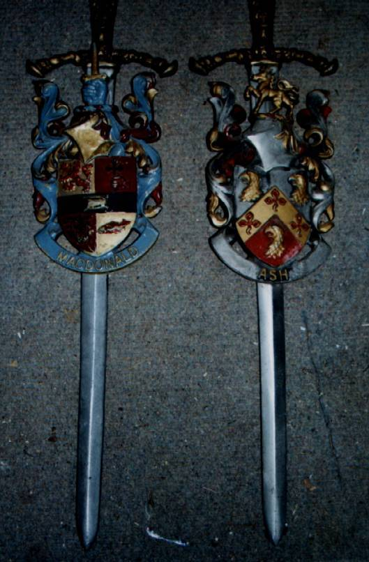 small decorative swords