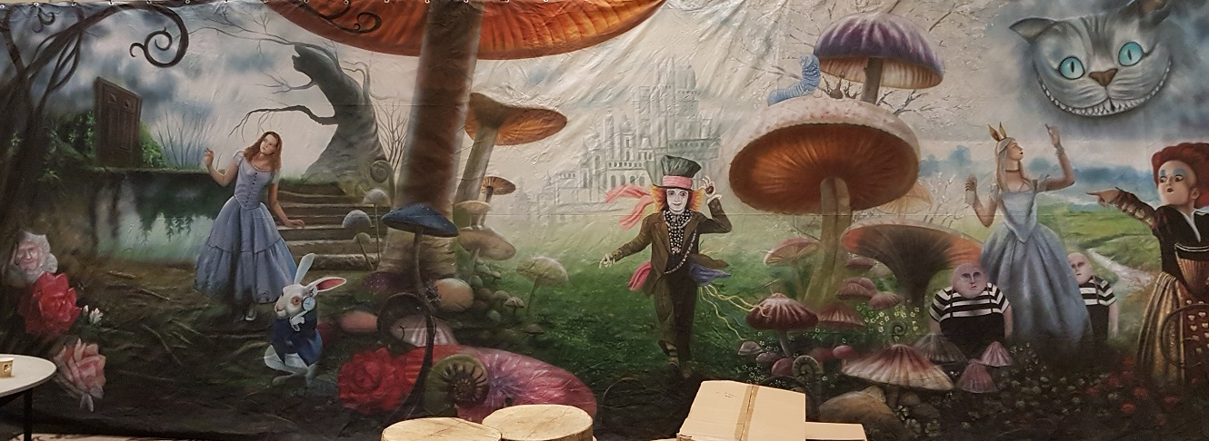 alice in wonderland backdrop