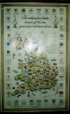 Brewers map pub wall picture