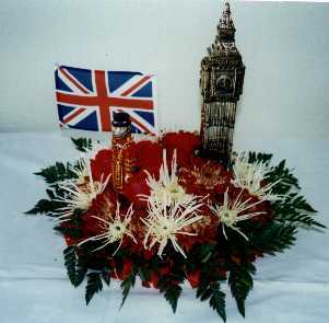 british themed table centres