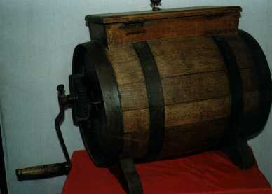 old butter churn