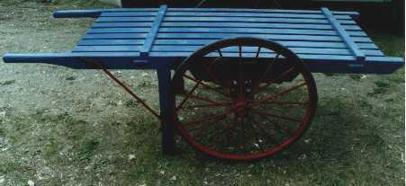 Market cart blue