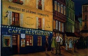 french cafe scene backdrop