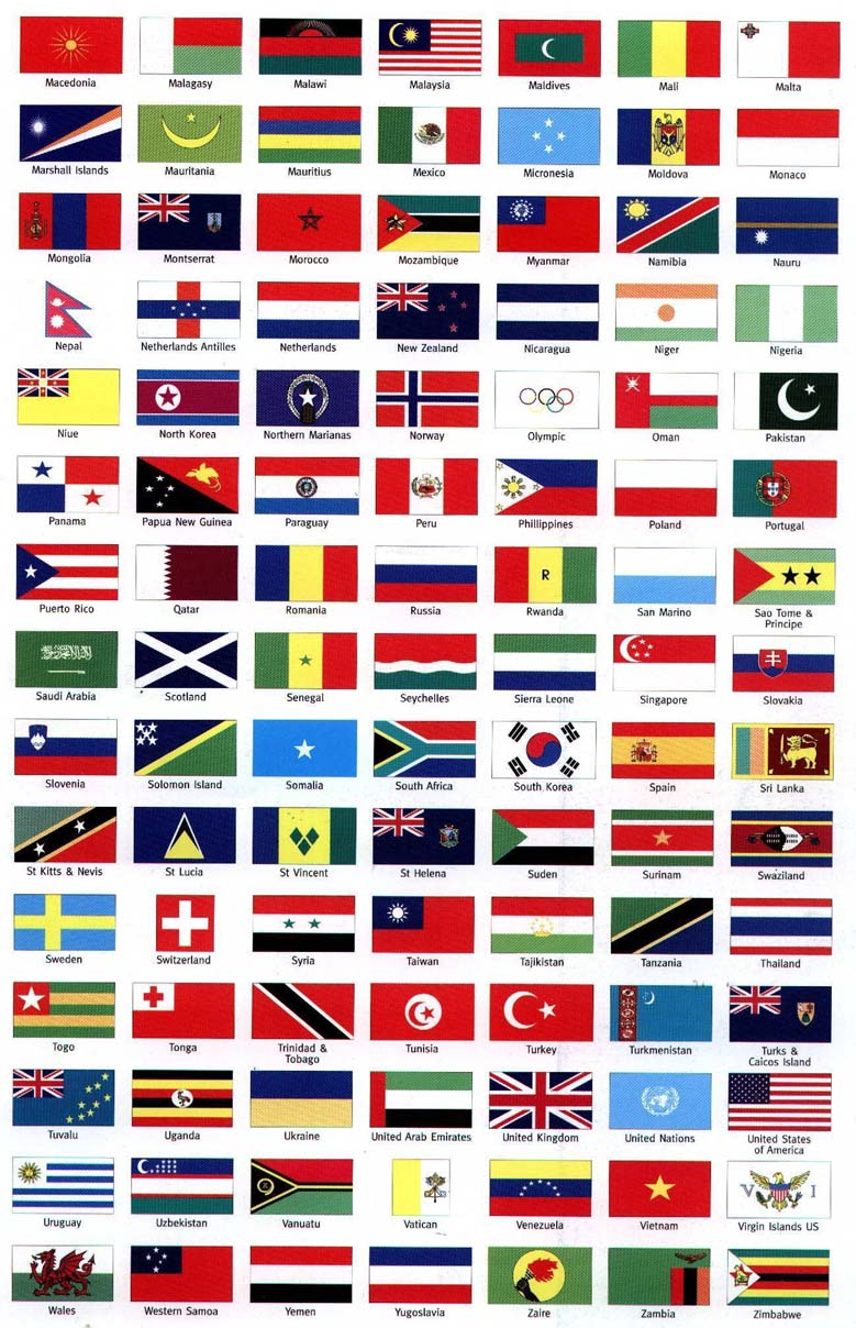 Flags Of The World For Hire