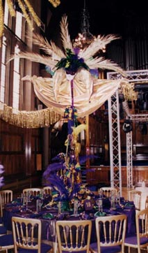 Mardi Gras And Masked Ball Table Centrepieces