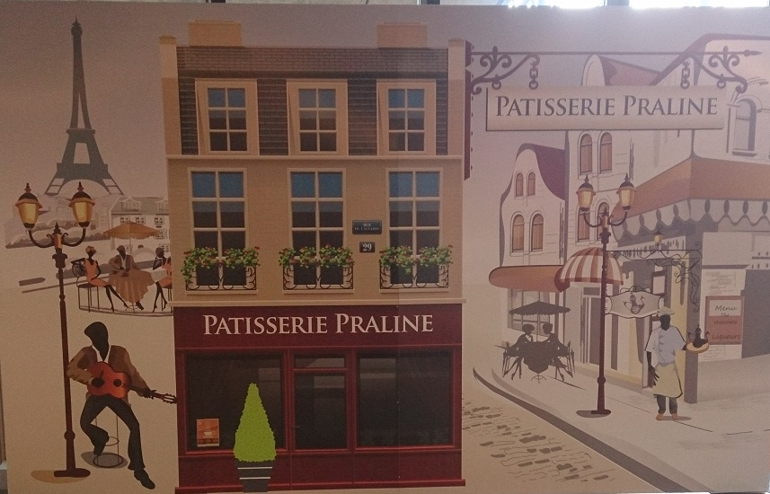 A french patisserie shop backdrop