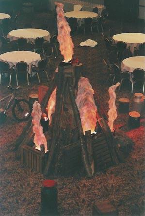 indoor bonfire