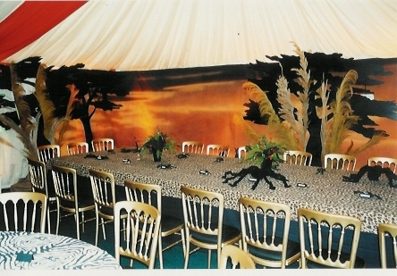 African theme props backdrops and parties for African party decoration