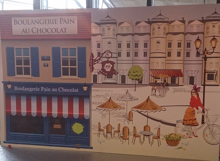 French chocolate shop backdrop