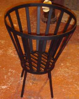 wrought iron brazier