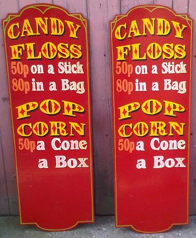 candy floss sign
