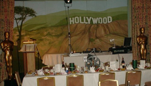 Hollywood themed room setting