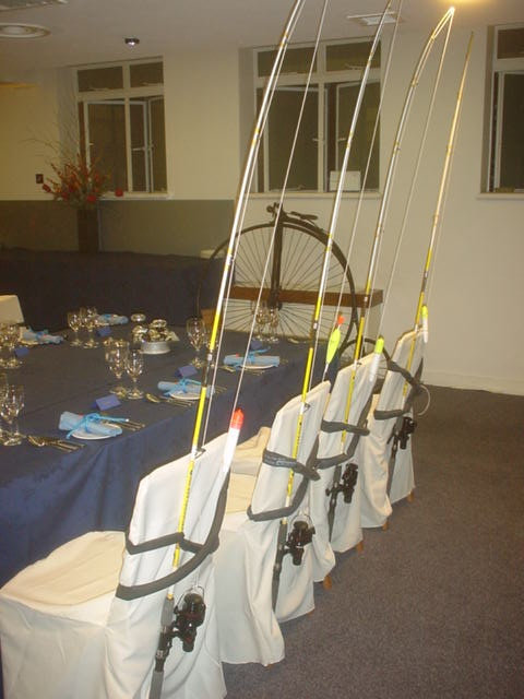 fishing party room setting