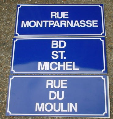 repro french street signs