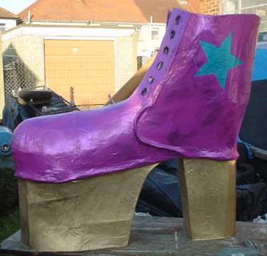 large glitter boots