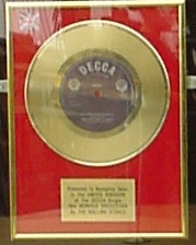 gold disc single