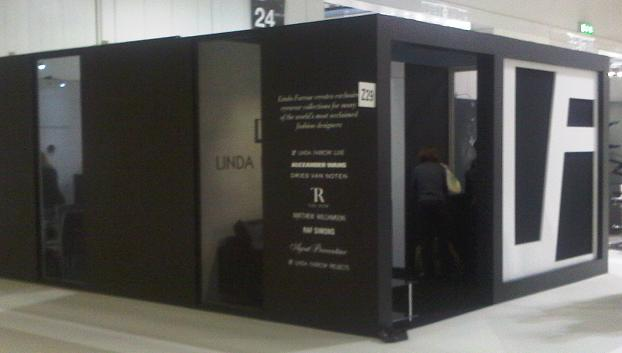 linda farrow exhibition stand