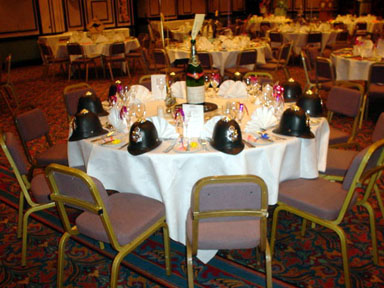 music themed table centres