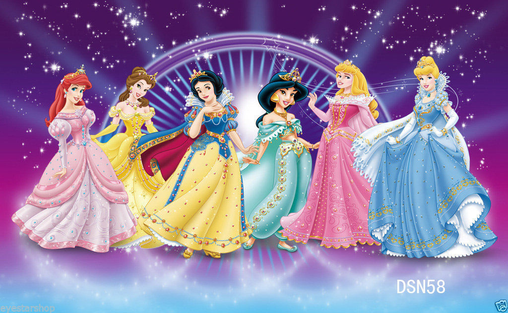 Disney style princesses backdrop