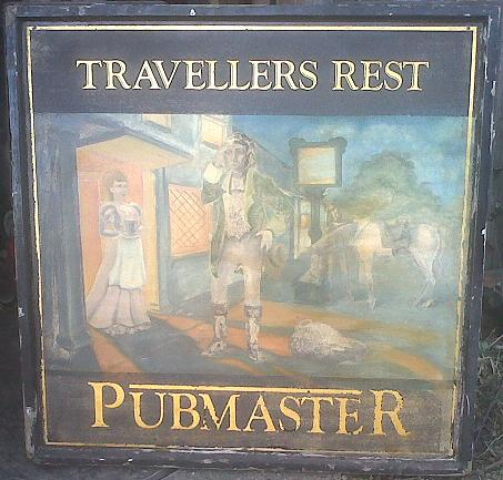 Travellers rest pub sign