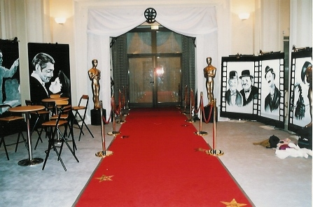 Red carpet hollywood entrance