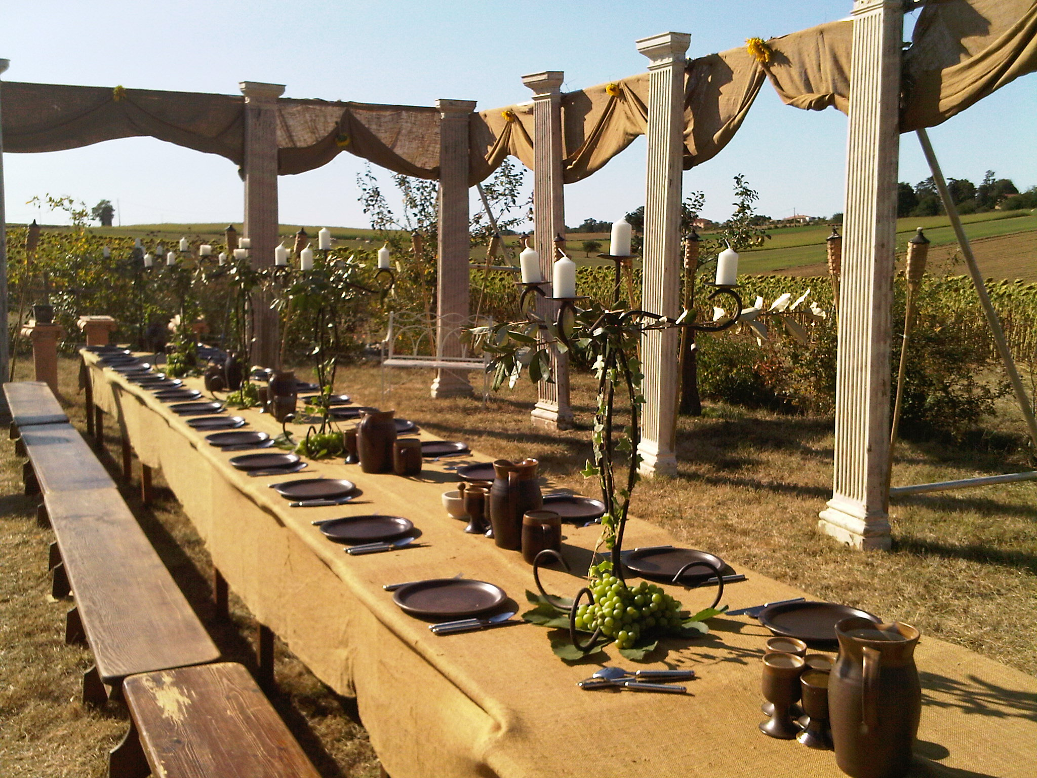Greek themed party setting