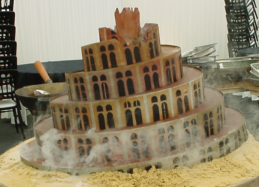 This Was A Bespoke 3d Prop Model Of Ziggurat Complete With Dry Ice Effect Made For An After Show Rolling Stones Party